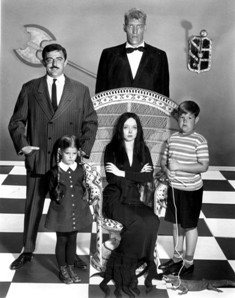 Addams Family main cast 1964, image public domain