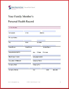 Personal Medical Record