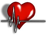 Illustration of a heart representing vital signs.