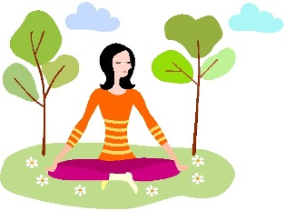 Illustration of a woman doing yoga for peace of mind.