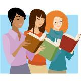 3 women reading books