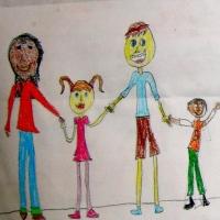 Alzheimer's Family Holding Hands