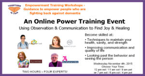 Power Training for the Alzheimer's and Dementia Caregiver