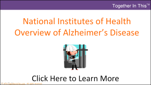 NIH Basic Overview of Alzheimers Disease