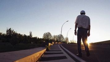 Gentleman with Alzheimer's experiencing sundowning