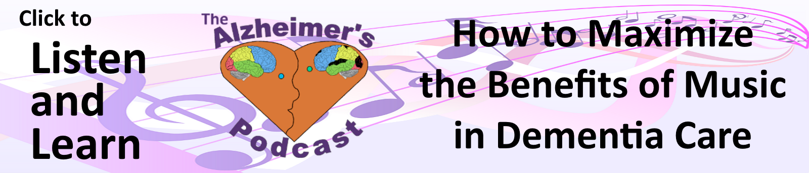 Banner ad for episode 8 of The Alzheimer's Podcast