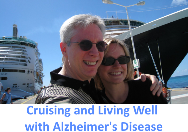 David Kramer and wife Tiffany in front of a cruise ship