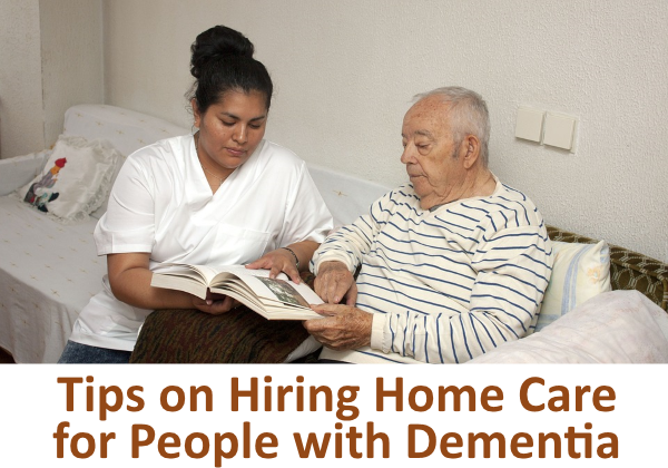 Home care professional helping man with dementia