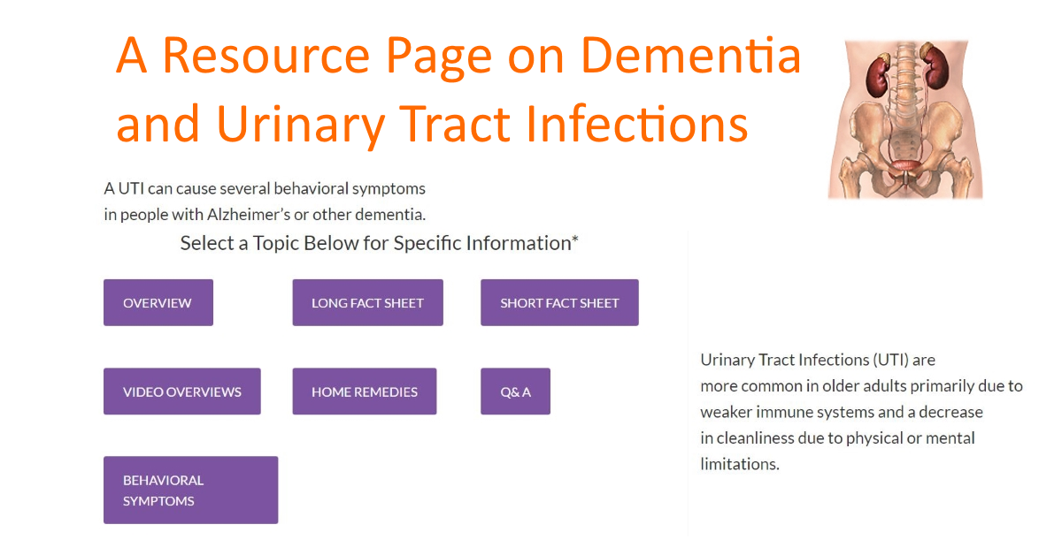 A Resource Page on Dementia and Urinary Tract Infections
